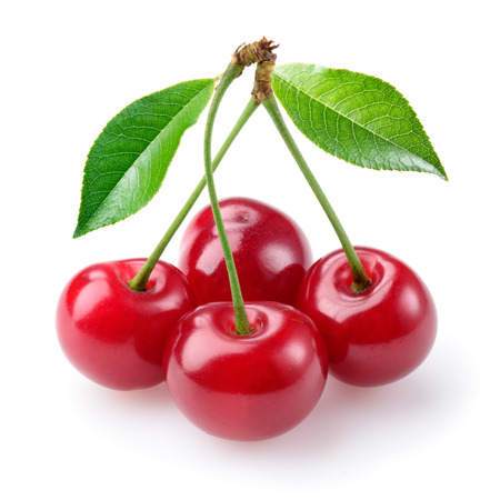 Cherry isolated on white Banque d'images