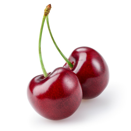 Cherry isolated on white background Фото со стока