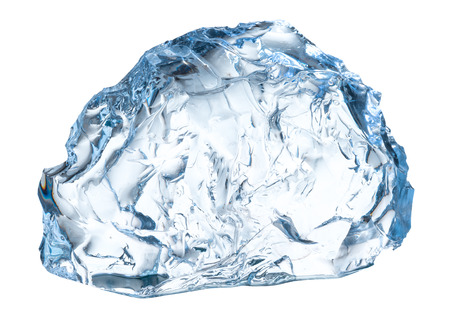 Piece of ice on a white background. With clipping path