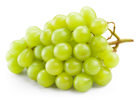 Green grape isolated on white background
