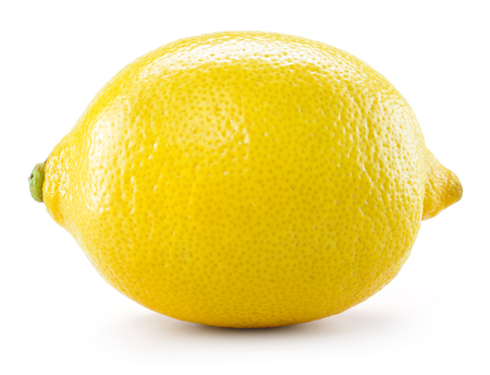 isolated on yellow: Lemon isolated on white background. With clipping path