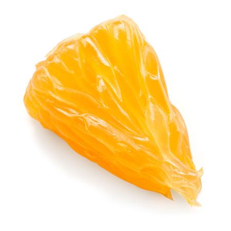 orange fruit: Orange fruit. Little slice isolated on white