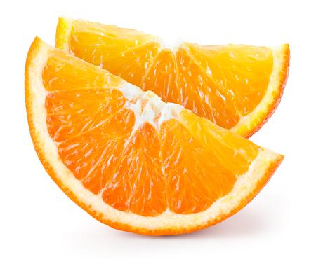 fruit orange: Naranja. Pedazo aislado en blanco Foto de archivo