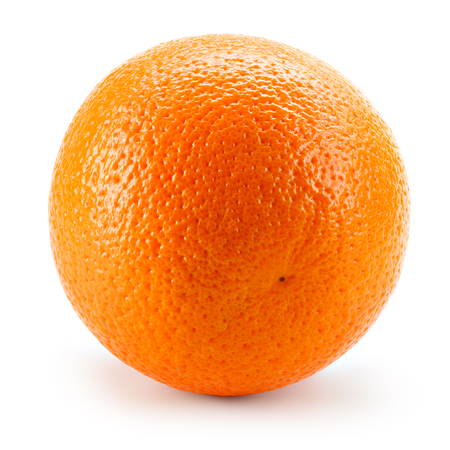 fruit orange: Frutas de color naranja sobre fondo blanco