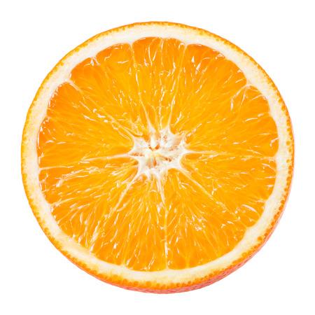 오렌지 과일의 조각 흰색으로 격리 스톡 콘텐츠