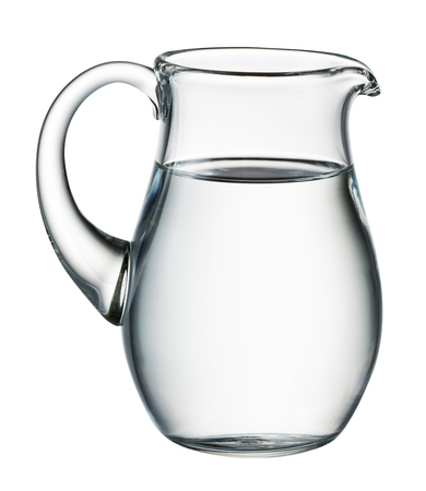Water pitcher isolated on white. With clipping path Archivio Fotografico