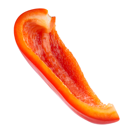pimenton: Red pepper. Fresh paprika isolated on white. With clipping path