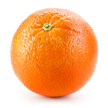 Orange fruit isolated on white 스톡 콘텐츠