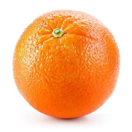 naranja fruta: Fruta naranja aislado en blanco Foto de archivo