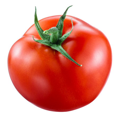 Tomato isolated on white. With clipping path Zdjęcie Seryjne