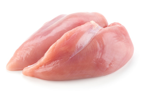 Raw chicken breast fillets 스톡 콘텐츠