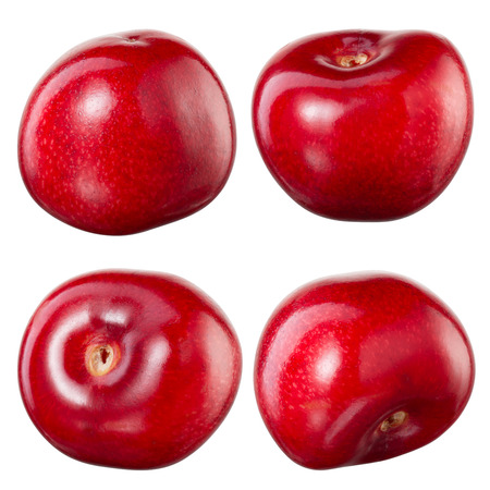 Cherry isolated on white background. Collection Banque d'images