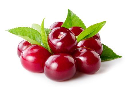 Cherry isolated on white Фото со стока