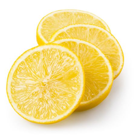 lemon slices: Lemon slices isolated on white. With clipping path