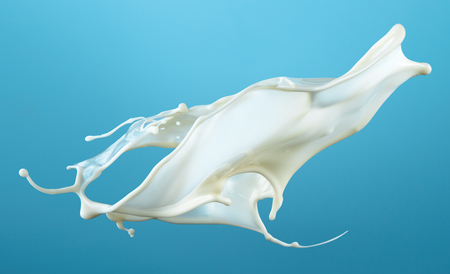 Milk splash isolated. With clipping path.
