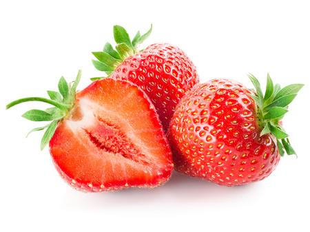 Fresh strawberry isolated on white