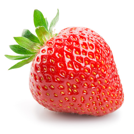 isolated  on white: Fresh strawberry isolated on white background