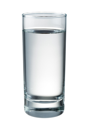 copa de agua: Aislado vaso de agua. Con trazado de recorte Foto de archivo