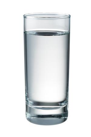 Water glas geïsoleerd. Met het knippen van weg