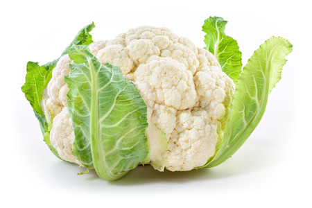 Cauliflower isolated on white background Archivio Fotografico