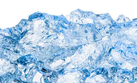 ice surface: Blue and shiny ice cubes
