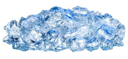 ice crushed: Crushed ice cubes isolated on white background
