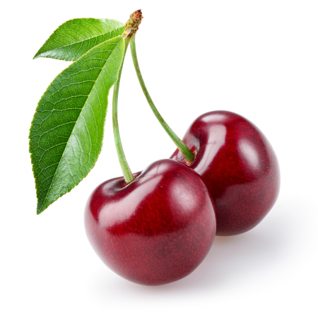 Cherry isolated on white background Banco de Imagens