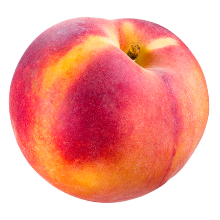 Peach isolated on white. With clipping path