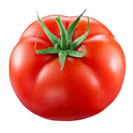 tomate: Tomato isolated on white. With clipping path Banque d'images