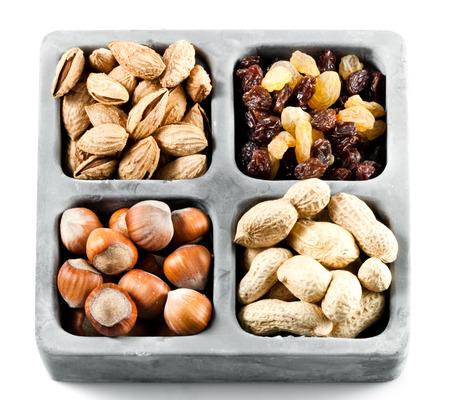 hard core: Nut and raisins