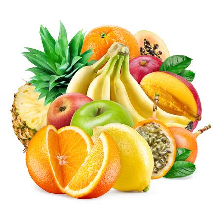 grenadilla: Fresh fruit veriety isolated on white background