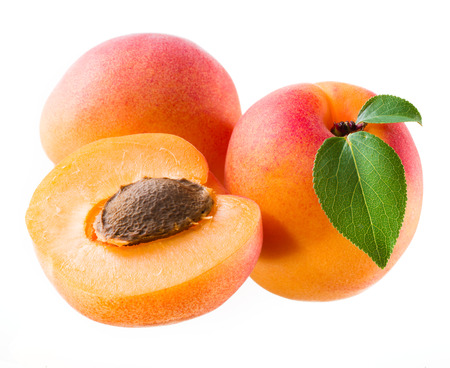 apricots: Apricots isolated on white.