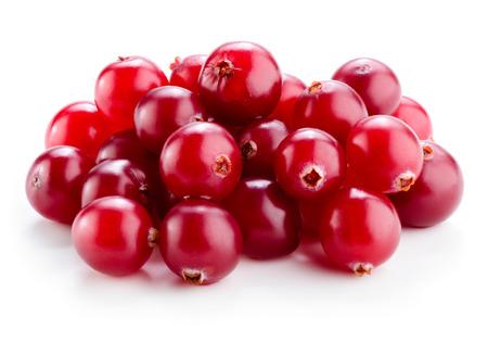 Cranberry isolated on white. Archivio Fotografico