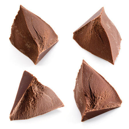 chocolate pieces: Chocolate pieces. Collection. Stock Photo