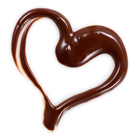 Chocolate heart isolated on white background Stock Photo
