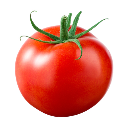 vegetables on white: Tomato isolated on white.