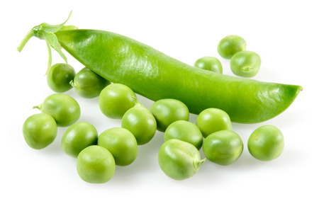 pea pod: Green peas in closeup