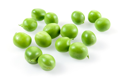 isolated on green: Green peas isolated on white background