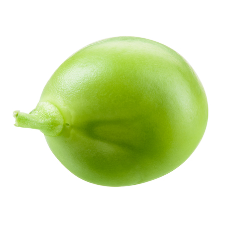 pea: Green pea isolated on white. Witrh clipping path. Stock Photo