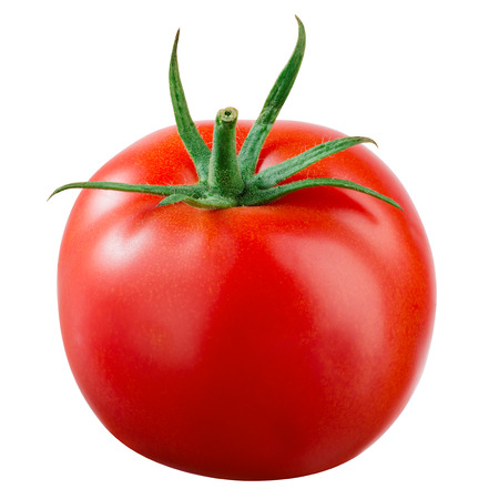 vegetables on white: Tomato isolated on white. With clipping path.