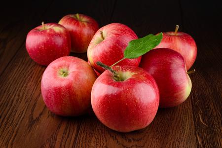 Apple red. Organic apples. Apples on dark background.
