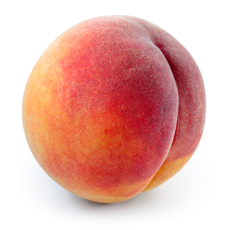 Peach isolated on white background. With clipping path. Stock Photo