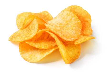Chips potato. Potato chips isolated on white background.
