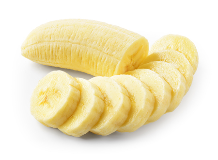 Banana. Banana slice isolated on white. With clipping path.