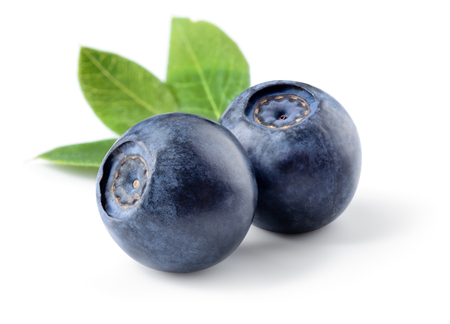 Blueberry isolated. Blueberries on white. With clipping path.