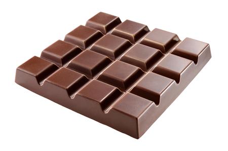 Barra di cioccolato isolata su bianco