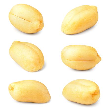 Peanuts. Peanut nuts isolated on white