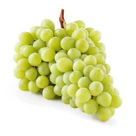 Grapes. Green grape. Grapes isolated on white. With clipping path. Full depth of field