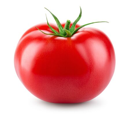 Tomato isolated. Fresh tomato. With clipping path. Full depth of field. Stock Photo