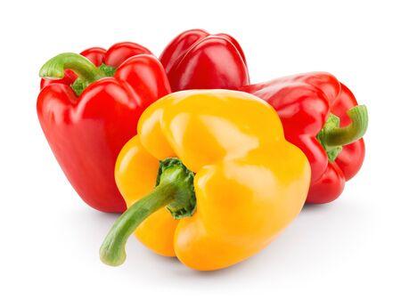Poivrons. Paprika. Poivrons isolés sur blanc.